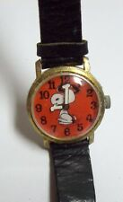 Vintage 1968 SNOOPY Peanuts Watch - Orange Face