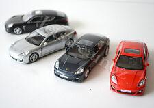 1 X Porsche Panamera Turbo Diecast Car model pull Grey Black Silver Red #14