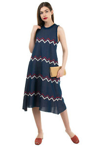 AKEP Knitted Trapeze Dress Size IT 38 XS Thin Knit Zig Zag Pattern Made in Italy