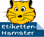Etiketten-Hamster