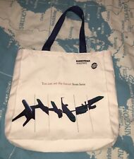 More details for bombadier aerospace high quality strong canvas shoulder bag brand new