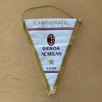 Milan Gagliardetto ricamo vs Genoa Serie A 2019 2020 match worn pennant no shirt
