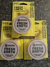 Lot of 3 Hunters Specialties Fresh Earth Cover Scent Wafers (3 Wafers per Pack)