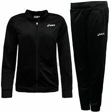 Asics Womens Woven Tracksuit Set Track Pants Jacket Training 127711 0904 Y35A