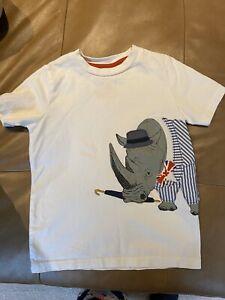 Mini Boden Rhino Applique Shirt 4/5
