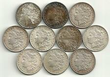 10 Coin Lot___Mixed Morgan Silver Dollars__High Grade AU-BU___#1152LC12
