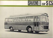 Saviem S C5 Coach Mid-Late 1960s French Market Foldout Sales Brochure