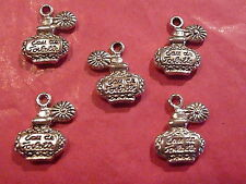 Tibetan silver flacon de parfum charmes 5 per pack