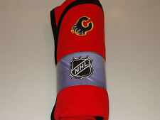 Calgary Flames NHL Hockey Sleep Wear New Born Polar Fleece Blanket Mighty