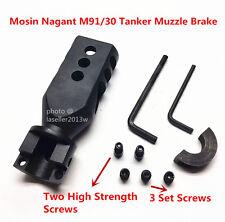 91/30 Bolt on Tanker Style Muzzle Brake Triangular Baffles for Mosin Nagant