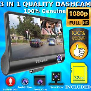3 Lens Camera 4in Car DVR 1080p Full HD Dash Cam Taxi Uber High Quality