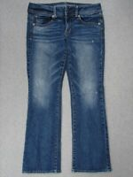 SD01421 **AMERICAN EAGLE** STRETCH KICK BOOT WOMENS JEANS sz6S