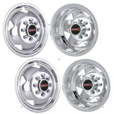 "17"" GMC 3500 TRUCK CHROME STAINLESS WHEEL SIMULATORS HUBCAP LINER COVERS SET 4 ©"
