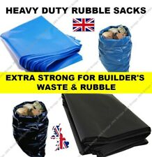 More details for extra strong heavy duty black or blue rubble sacks high strength bags 30kg