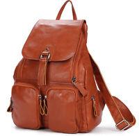 Retro Women's Leather Backpack Bookbag Rucksack Travel Knapsack Schoolbags Bag