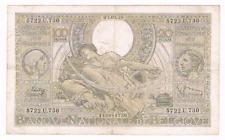 "100 Frank/20 Belgas   type  ""1933""  Vloors  Fr-Ndl   02.02.1939     Morin 60c"