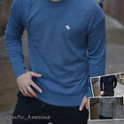 Abercrombie & Fitch Mens Crew Neck & V Neck Wool Blend Sweater XS S M L XL XXL