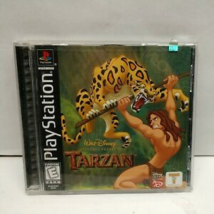 Disney's Tarzan Sony PlayStation 1 PS1 Black Label Complete With Manual