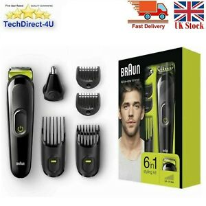Braun Cordless Hair Clipper Trimmer Shaver Cut Cutting Pro Kit All in one 6 in 1