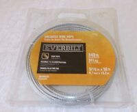 """3/16"""" x 50 ft Galvanized Wire Rope Winch Cable with loop on one end"""