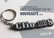 Renault Clio 16S Porte clés Keyrings Keychain monogramme badge logo keys