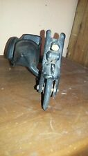 Vintage Cast iron motorcycle with sidecar old antique harley indian collectible