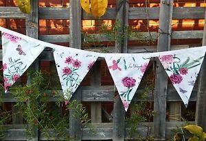 Bunting flags banner child's bedroom, garden, birthday any time floral