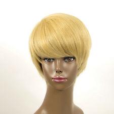 perruque afro femme 100% cheveux naturel courte blonde ref WHIT 06/22