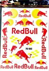 Redbull Energy sticker set 4 DIFFERENT designs for motorcycle