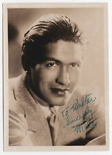 Ray Mala Original Vintage Signed Autograph on a 1936 Fan Photograph - Very Rare