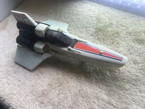 vintage Battlestar Galactica viper with figure 80's mattel