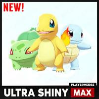 Pokemon Sword Shield - Ultra Shiny G1 Starter Team Bundle 6IV + Master Ball NEW