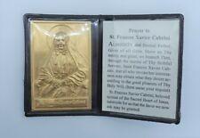 Saint St. Xavier Cabrini Prayer to Frances bifold pocket icon shrine metal italy