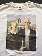 Vintage American Gothic Grant Wood Men's XL/2XL Portrait 90s Artwork Night Shirt