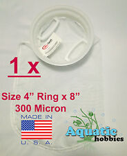"1x Filter Sock 4"" Ring x 8"" 300 Micron Mesh Polyester High Quality Aquarium Bag"