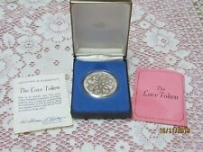 Franklin Mint The Love Token 38mm Sterling Silver Original Box And Papers