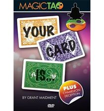 YOUR CARD IS DVD & BICYCLE GIMMICK BY GRANT MAIDMENT MAGIC TAO MAGIC CARD TRICKS
