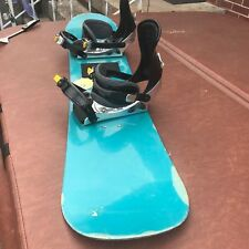Snowboard with morrow bindings. In good condition to learn or practice play