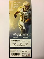 LOS ANGELES CHARGERS VS SEATTLE SEAHAWKS AUGUST 13/17 1ST GAME TICKET STUB