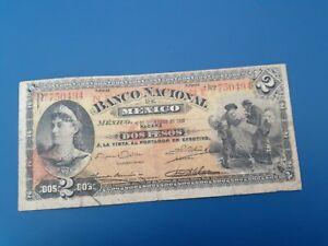 Banknote Mexico 1913(F+)2pesos.