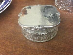International Sterling Art Deco Silver Powder Box MONO