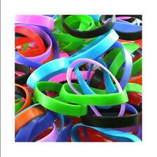 Unisex Blank Silicone Wristband Powerful Sport Rubber Bracelet Good Luck Gift