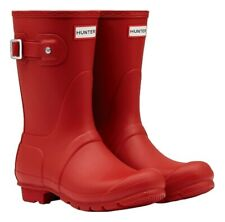 WAREHOUSE SALE New Ladies Short Hunter Wellies Wellington Boots Red Size 5