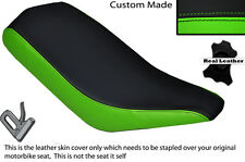 BLACK & GREEN CUSTOM FITS BASHAN 200 QUAD DUAL LEATHER SEAT COVER ONLY
