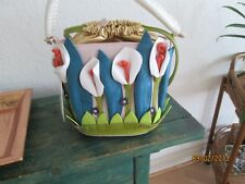 DESIGNER LILLY FLOWERS HIGH FASHION HANDBAG SHOW STOPPER STATEMENT
