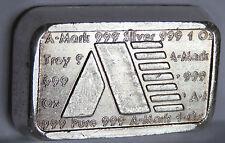 A MARK 1981 ART BAR #A163 USVI .999 FINE SILVER STACKER VIRGIN ISLANDS 1 TROY OZ