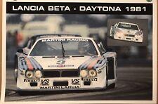 Lancia Beta Martini -Daytona 1981 Racing Car Poster! Stunning! Own It!