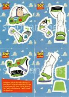 """Complete /""""BADGE/"""" Sticker Set of 8 w// PROMO #S1 TOY STORY SERIES 1 Skybox//1995"""