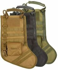 Military MOLLE Tactical Christmas Holiday Stocking Gift Seasonal Decor w/ handle