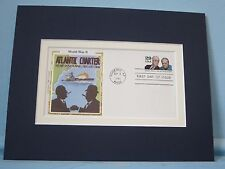 Franklin Roosevelt & Winston Churchill  & The Atlantic Charter First Day Cover